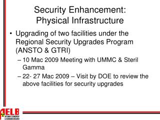 Security Enhancement: Physical Infrastructure