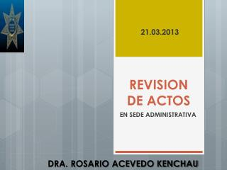 REVISION DE ACTOS