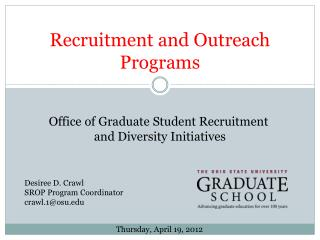 Recruitment and Outreach Programs