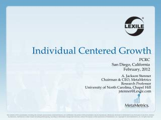 Individual Centered Growth