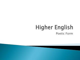 Higher English