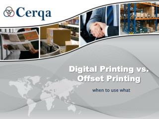Digital Printing vs. Offset Printing: when to use what