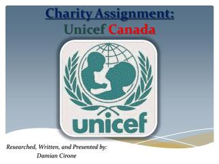 Charity Assignment: Unicef Canada