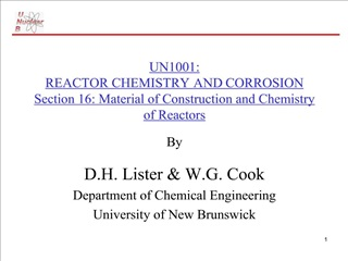 UN1001: REACTOR CHEMISTRY AND