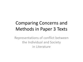 Comparing Concerns and Methods in Paper 3 Texts