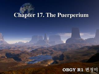 Chapter 17. The Puerperium