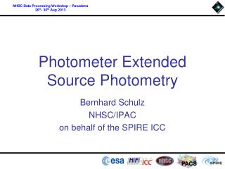 Photometer Extended Source Photometry