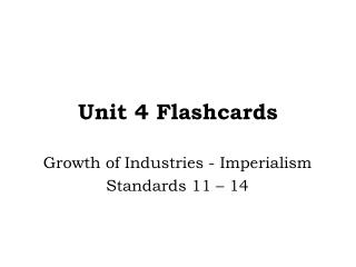 Unit  4  Flashcards