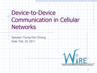 Device-to-Device Communication in Cellular Networks