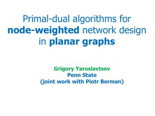 Primal-dual algorithms for node-weighted  network design in  planar graphs