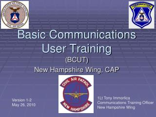 Basic Communications User Training