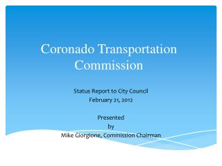 Coronado Transportation Commission
