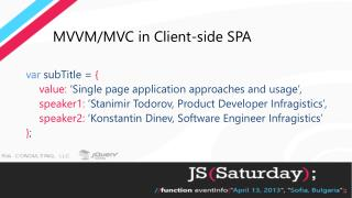 MVVM/MVC in Client-side SPA