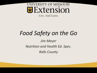 Food Safety on the Go