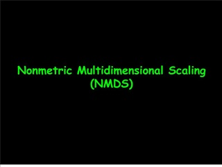 Nonmetric Multidimensional Scaling NMDS