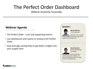 The Perfect Order Dashboard