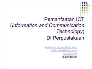 Pemanfaatan ICT  Information and Communication Technology ...