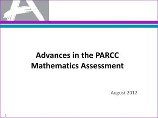 Advances in the PARCC Mathematics Assessment