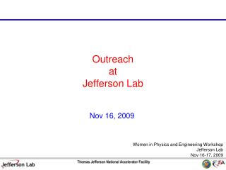 Outreach at Jefferson Lab