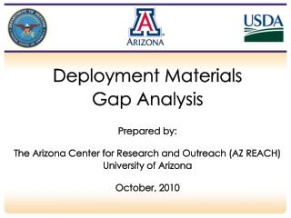 Deployment Materials  Gap Analysis Prepared by: