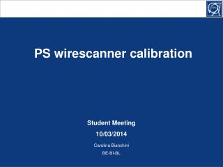 PS wirescanner calibration