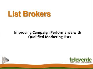 List Brokers - Televerde