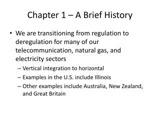 Chapter 1 – A Brief History
