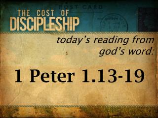 today's reading from god's word: