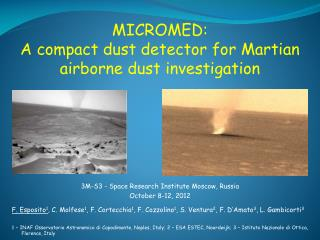 MICROMED:  A compact dust detector for Martian airborne dust investigation
