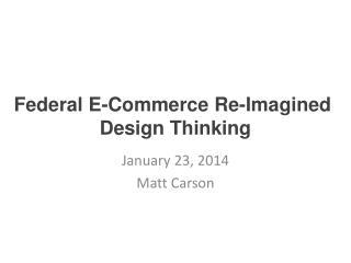 January 23, 2014 Matt Carson