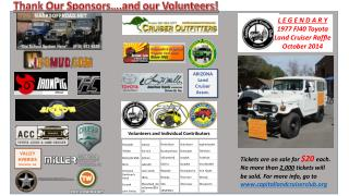 Thank Our Sponsors….and our Volunteers!