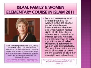 Islam, family & women  elementary course in Islam 2011