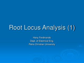 Root Locus Analysis (1)
