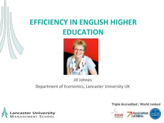 EFFICIENCY in English higher education