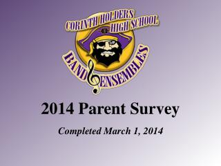2014 Parent Survey