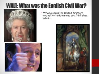 WALT: What was the English Civil War?