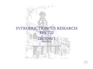 INTRODUCTION TO RESEARCH EiN  732