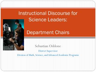 Instructional Discourse for Science Leaders: Department Chairs