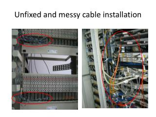 Unfixed and messy cable installation