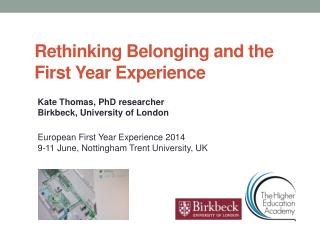 Rethinking Belonging and the First Year Experience