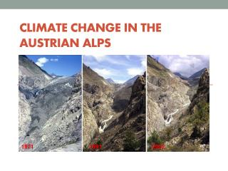 Climate  Change  i n  the Austrian  Alps