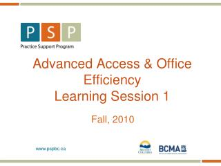 Advanced Access & Office Efficiency Learning Session 1