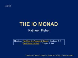 the IO Monad
