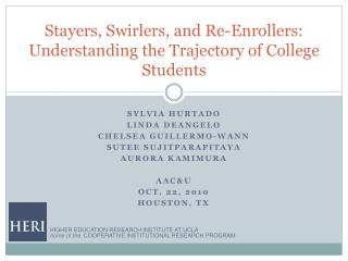 Stayers, Swirlers, and Re-Enrollers: Understanding the Trajectory of College Students