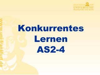 Konkurrentes  Lernen AS2-4