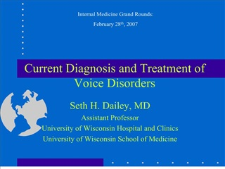 Current Diagnosis and Treatment of Voice Disorders