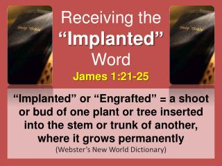 "Receiving the ""Implanted"" Word"