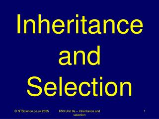 Inheritance and Selection