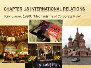 Chapter 18 international relations