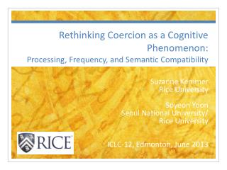 Rethinking Coercion as a Cognitive Phenomenon:  Processing, Frequency, and Semantic Compatibility